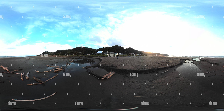 Plagada de madera arroyo ohope beach Imagen De Stock