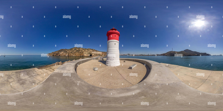 Faro de Navidad. Imagen De Stock