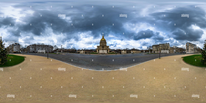 La Place Vauban - Les Invalides - París - Francia Imagen De Stock