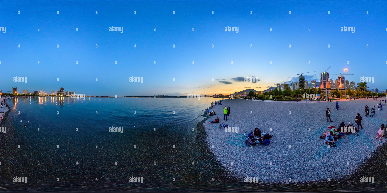 Al lado de la playa de lago Chitgar - Bamland Imagen De Stock