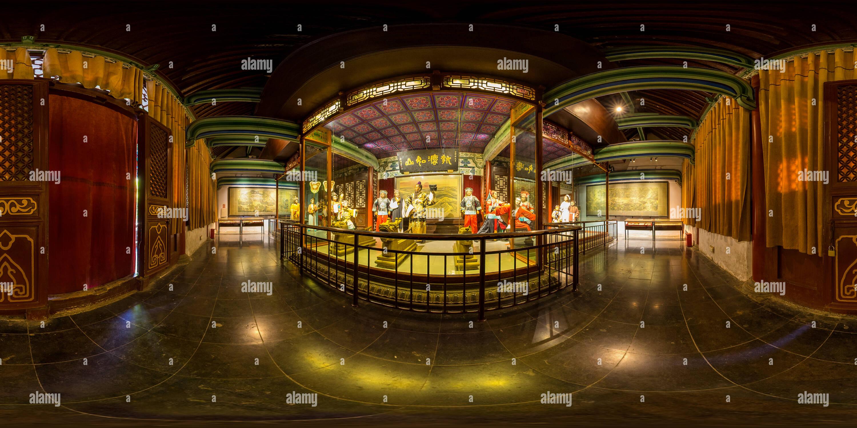 Un museo de cera en el Bao Gong Memorial Hall Imagen De Stock