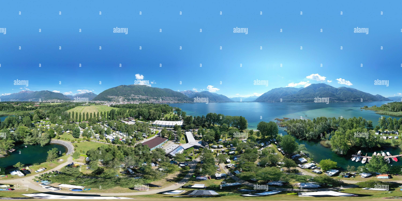 Camping 'Delta' Locarno (Suiza) Imagen De Stock