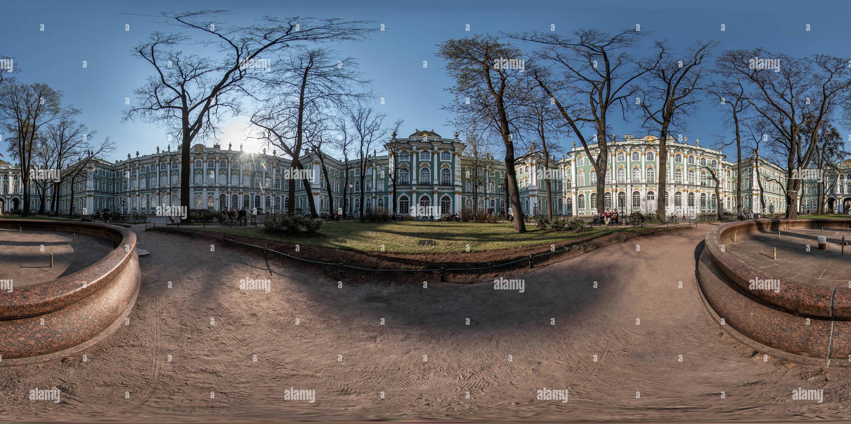 Dentro del jardín del Palacio de Invierno, Rusia Imagen De Stock