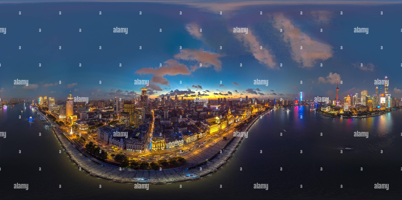 El Bund de Shanghai después del atardecer Imagen De Stock