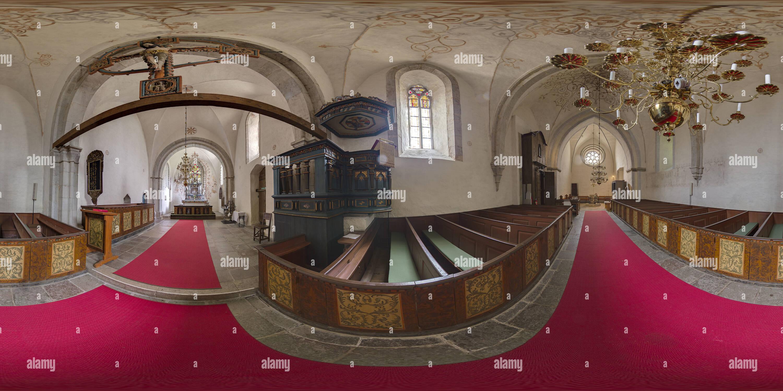 Iglesia Barlingbo, Gotland, SUECIA, vista interior Imagen De Stock