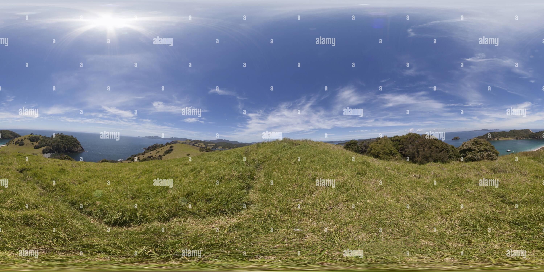 Vue panoramique à 360° de Waewaetorea Island Russell Nouvelle-zélande