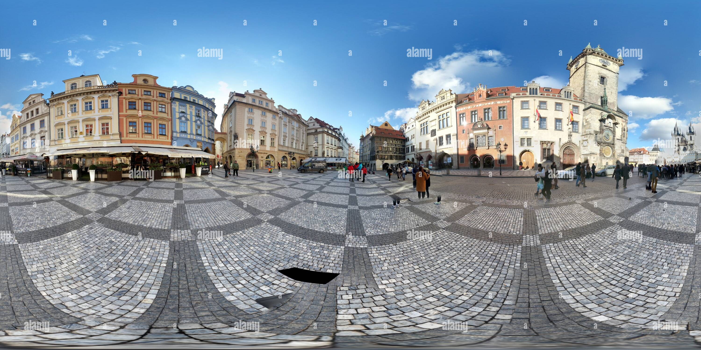 Vue panoramique à 360° de Horloge astronomique, Prague, République Tchèque