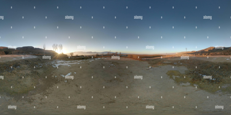 Vue panoramique à 360° de La Chine, Shanxi,hunyuan,fujiapo,hill
