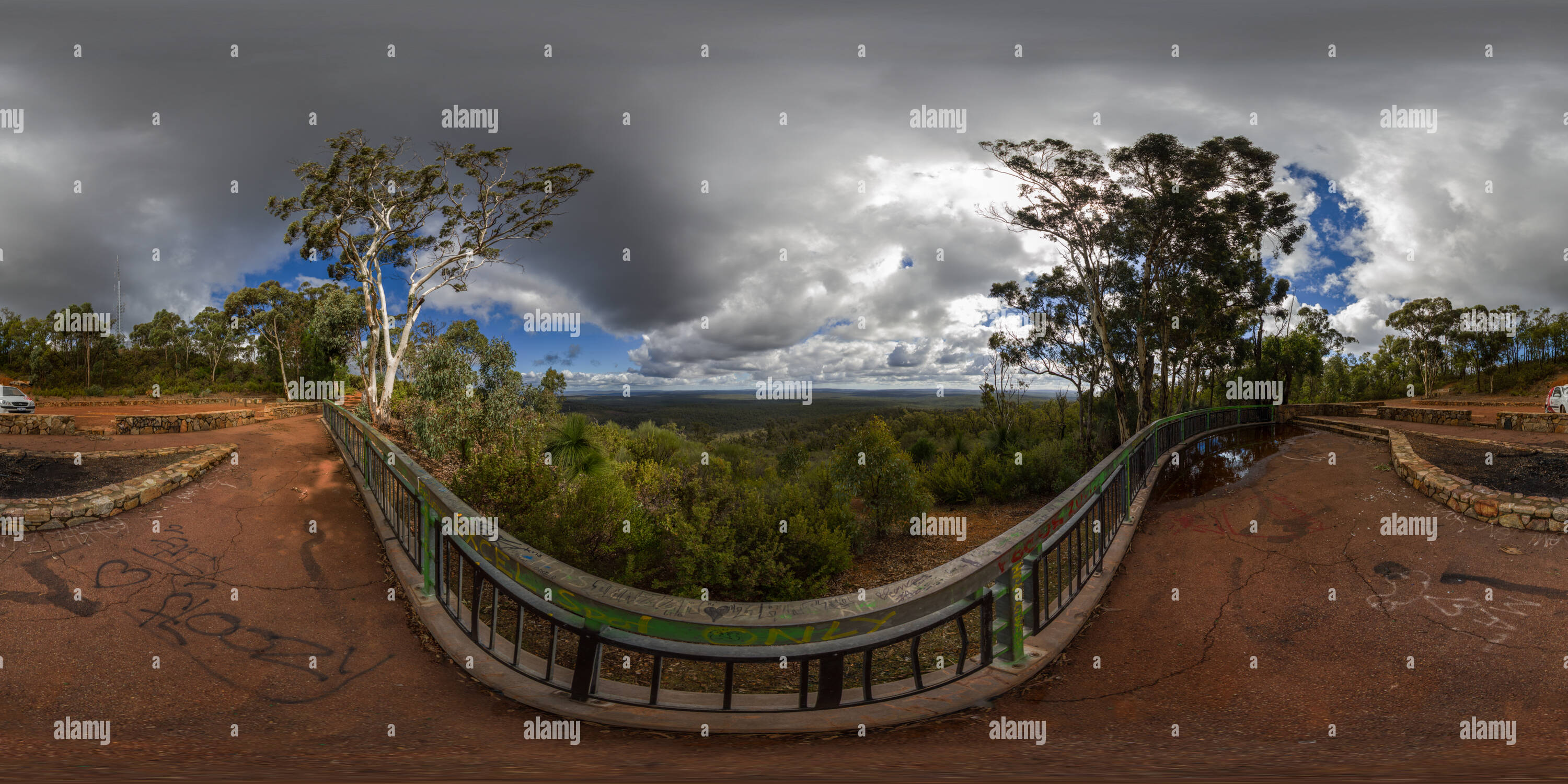 Vue panoramique à 360° de Mt Dale Lookout