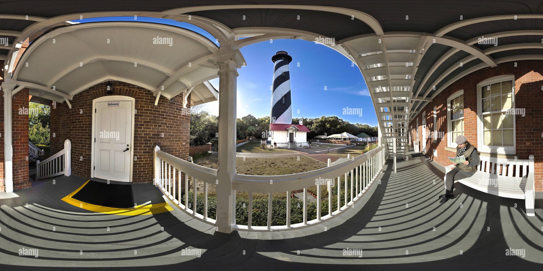 Vue panoramique à 360° de Phare de St Augustine en Floride USA pano2