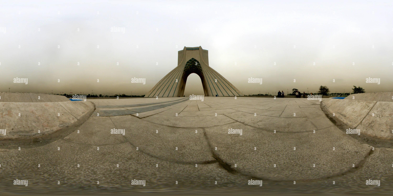 Vue panoramique à 360° de La tour Azadi, Téhéran, Iran - II