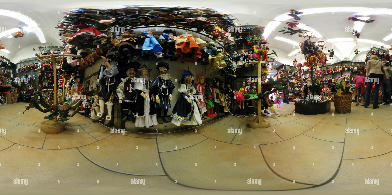 Vue panoramique à 360° de Boutique de marionnettes à Prague
