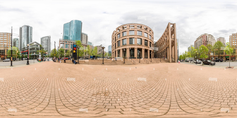 Vue panoramique à 360° de Bibliothèque publique de Vancouver, Vancouver, Canada