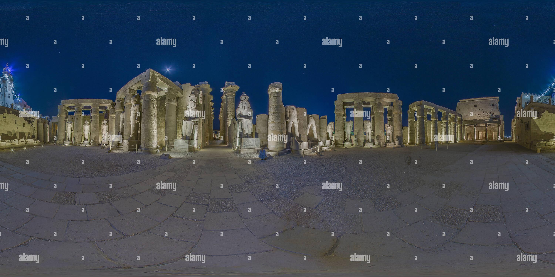 Vue panoramique à 360° de Le temple de Louxor, Egypte