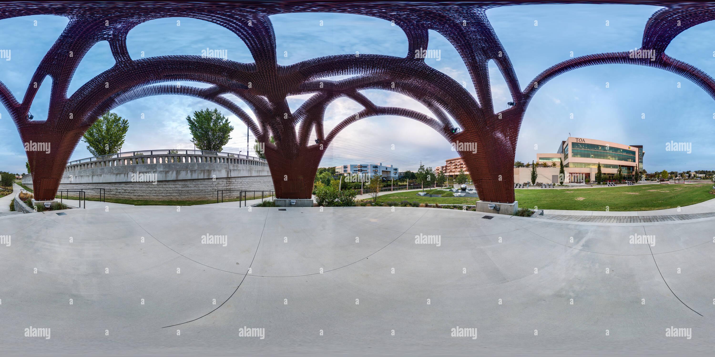 Vue panoramique à 360° de Sculpture 3D Printed Pavilion
