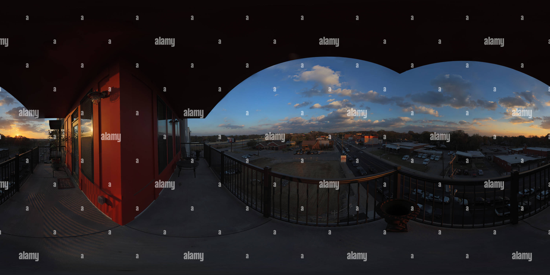 Vue panoramique à 360° de Coucher de soleil sur l'Avenue Charlotte