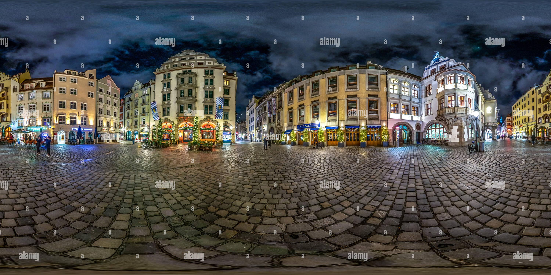 Vue panoramique à 360° de La nuit Platzl Munich