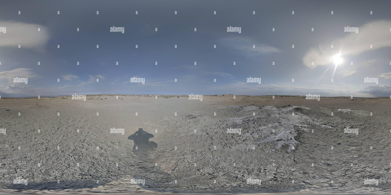Vue panoramique à 360° de Grosser Mishovdagh Volcan de boue