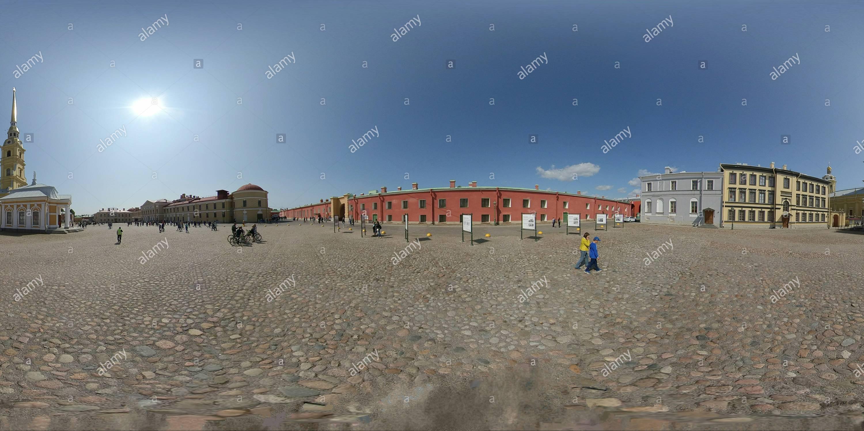 Vue panoramique à 360° de Forteresse Pierre et Paul. St.Petersburg