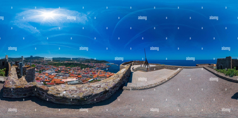 Vue panoramique à 360° de Castel dei Doria, Castelsardo, Sardaigne, Italie