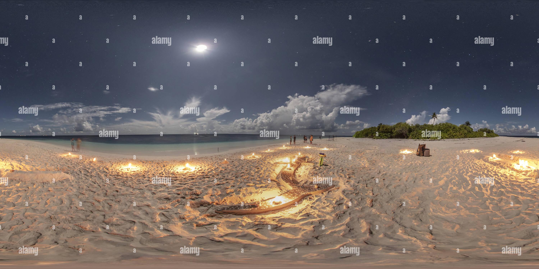 Vue panoramique à 360° de Des baleines de sable