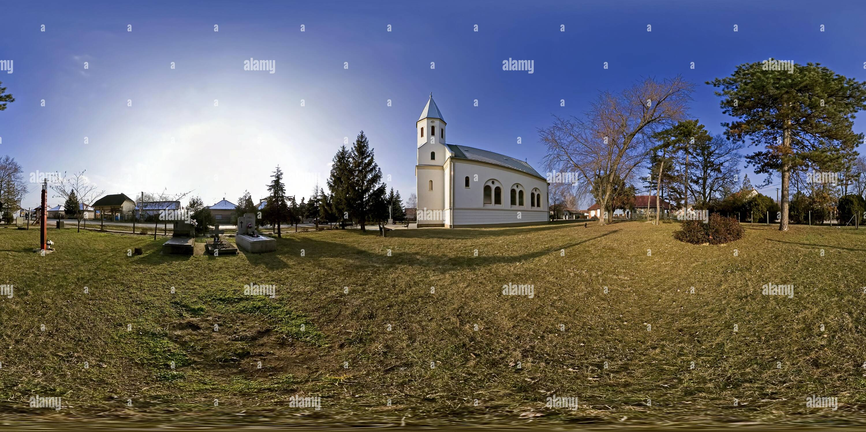 Petite Vierge sainte Église catholique park Photo Stock