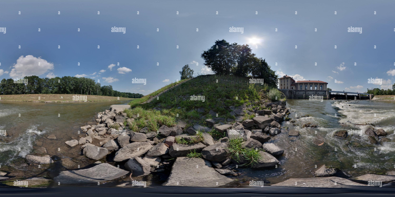 Sur la rivière de Kromeriz Hpp Photo Stock