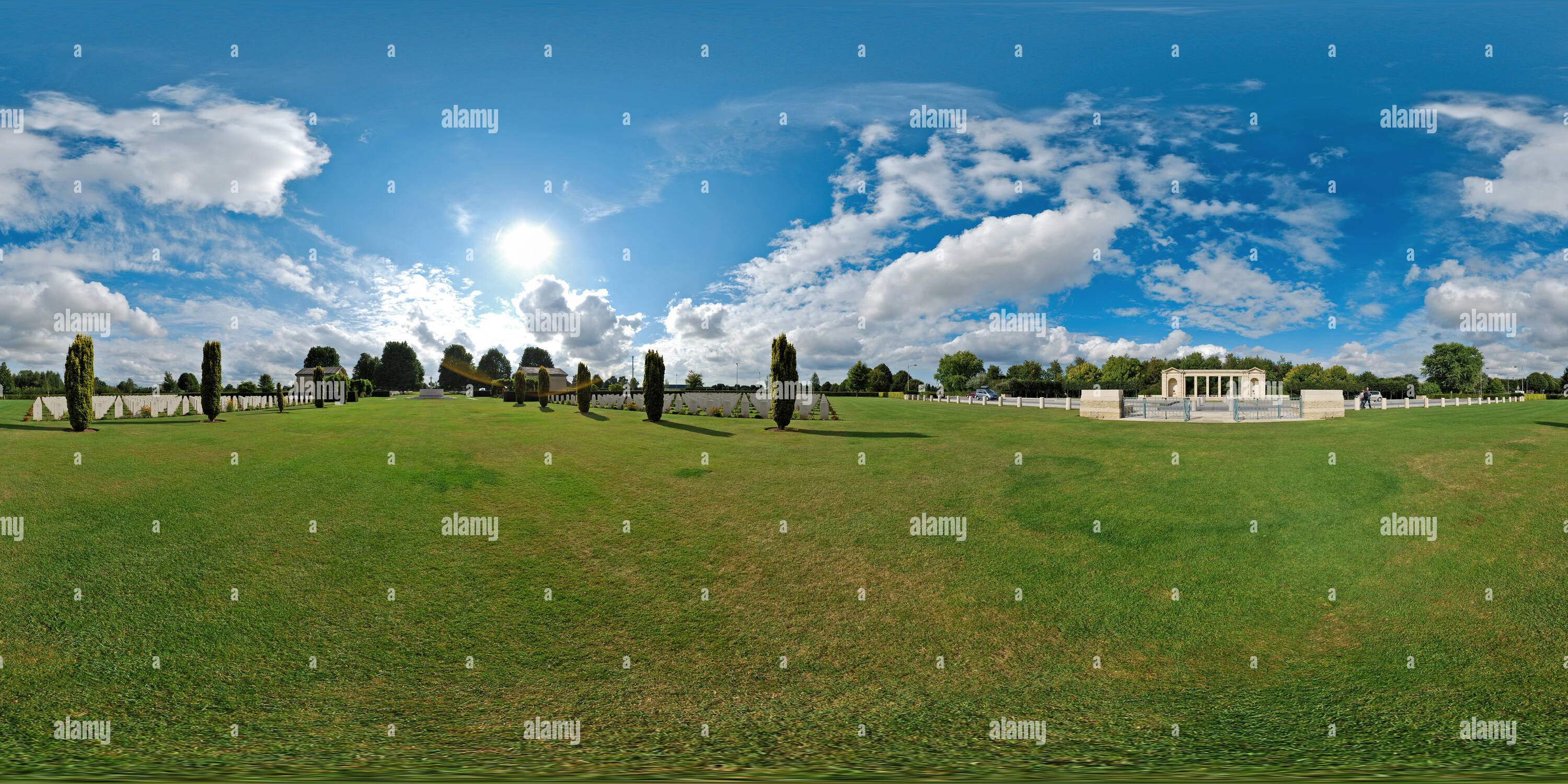 Cimetière britanique à Bayeux - France Photo Stock