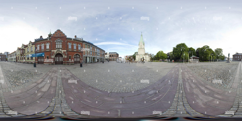 Place de la ville de Kristiansand Photo Stock