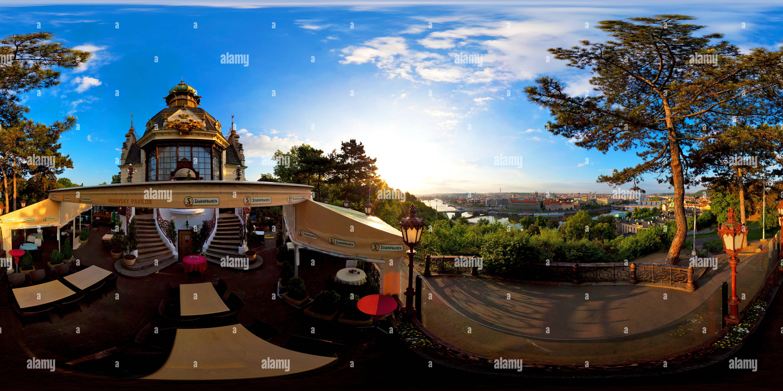 Pavillon Hanavsky - Lever du Soleil Photo Stock