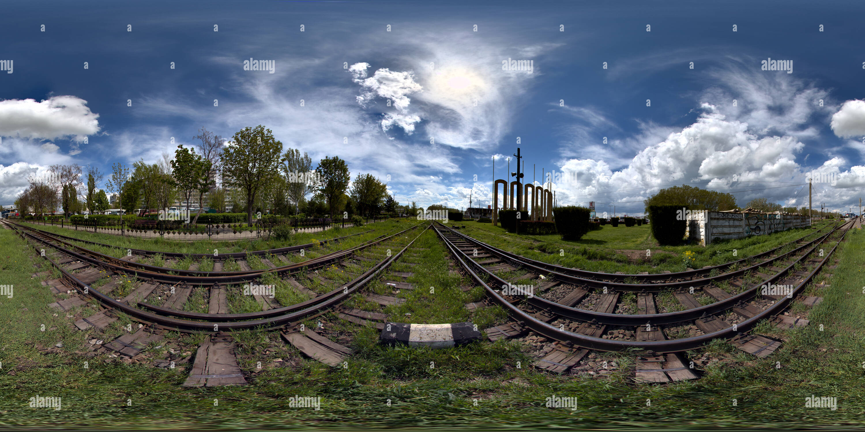 Roumanie, Brasov, entrée rail Photo Stock