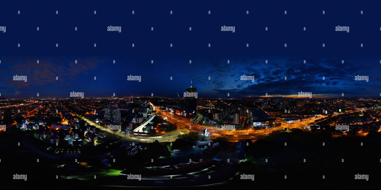 TEST DE Scène de nuit avec la plus haute résolution 360villes Photo Stock