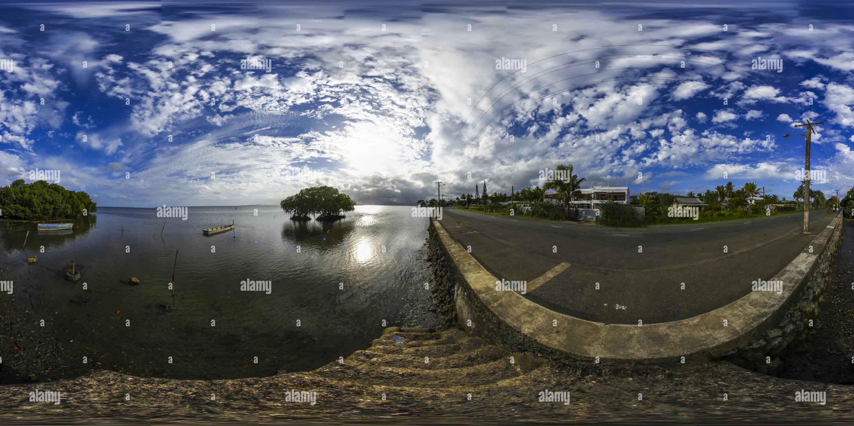 Les mangroves à l'extrémité sud de la péninsule de Suva Photo Stock