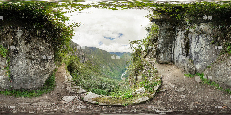 Chemin du Pont de l'Inca Photo Stock