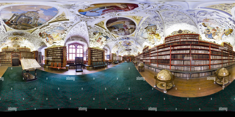 Bibliothèque de théologie de Strahov 70mm version 2014gigapixel 30k 15k petite version Photo Stock