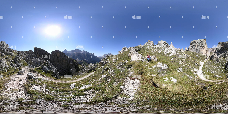 Den Cir-Spitzen Groednerpass en am Photo Stock