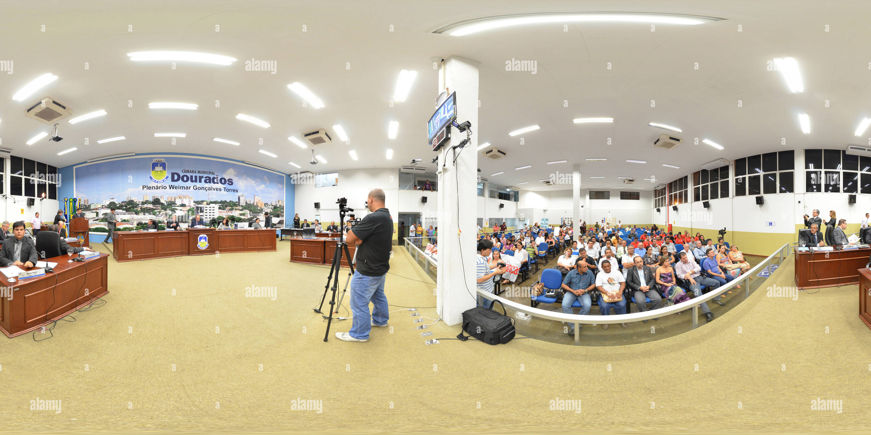 Célébration de 60 ans de Dourados Rotary Club au cours de la session du Conseil de la ville de Dourados.Comemoração de 60 Anos do Clube rotatif de Dourados durante un Sessão da Câmara dos Vereadores de Dourados Photo Stock