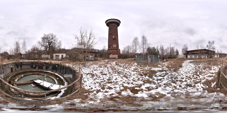 Cour de triage - clarification de fosse, Elstal, Brandebourg Photo Stock