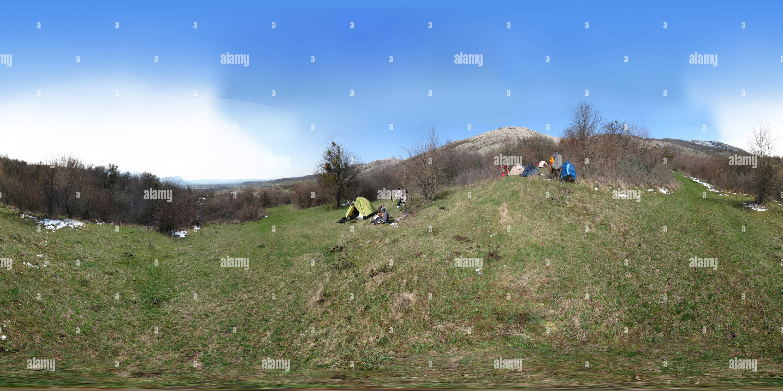 Camp touristique Photo Stock