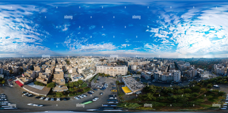 Photo aérienne de Téhéran Photo Stock