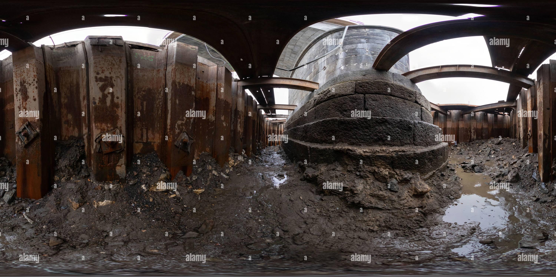 Viaduc Negrelli cimentation de la fondation 2 pier Photo Stock
