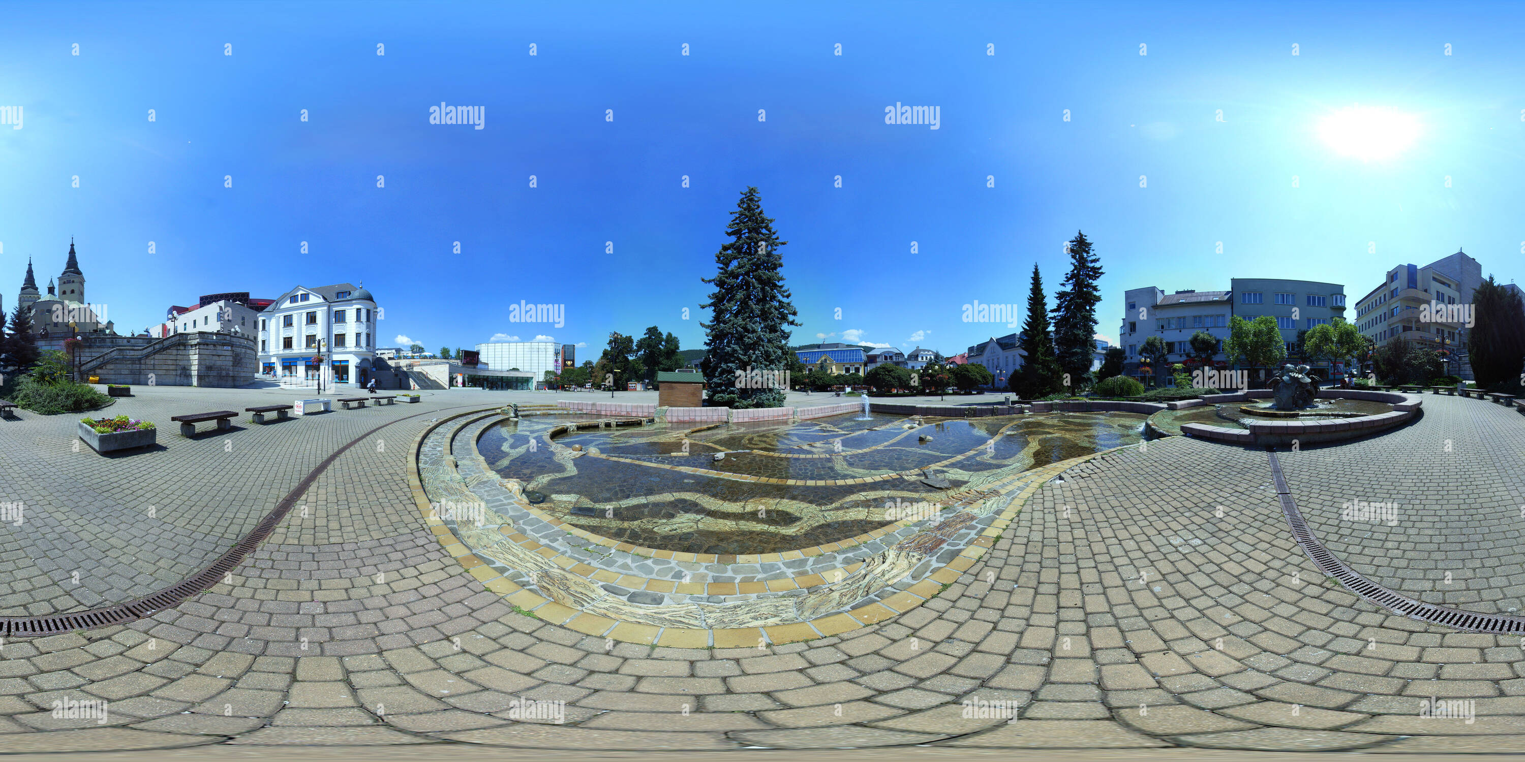 Hlinka - Žilina- Square Fountain Photo Stock