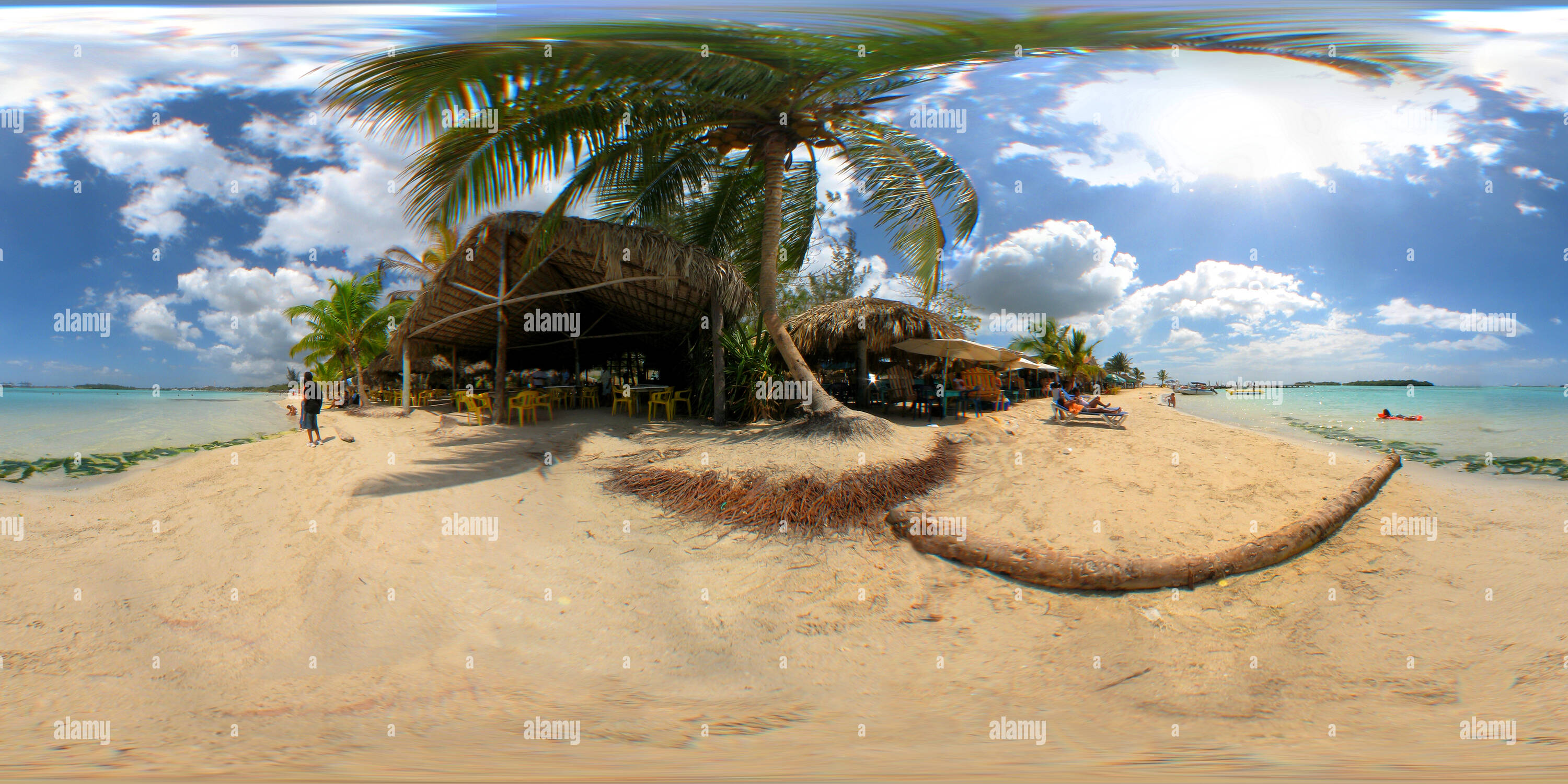 La plage de Boca Chica, Santo Domingo Photo Stock