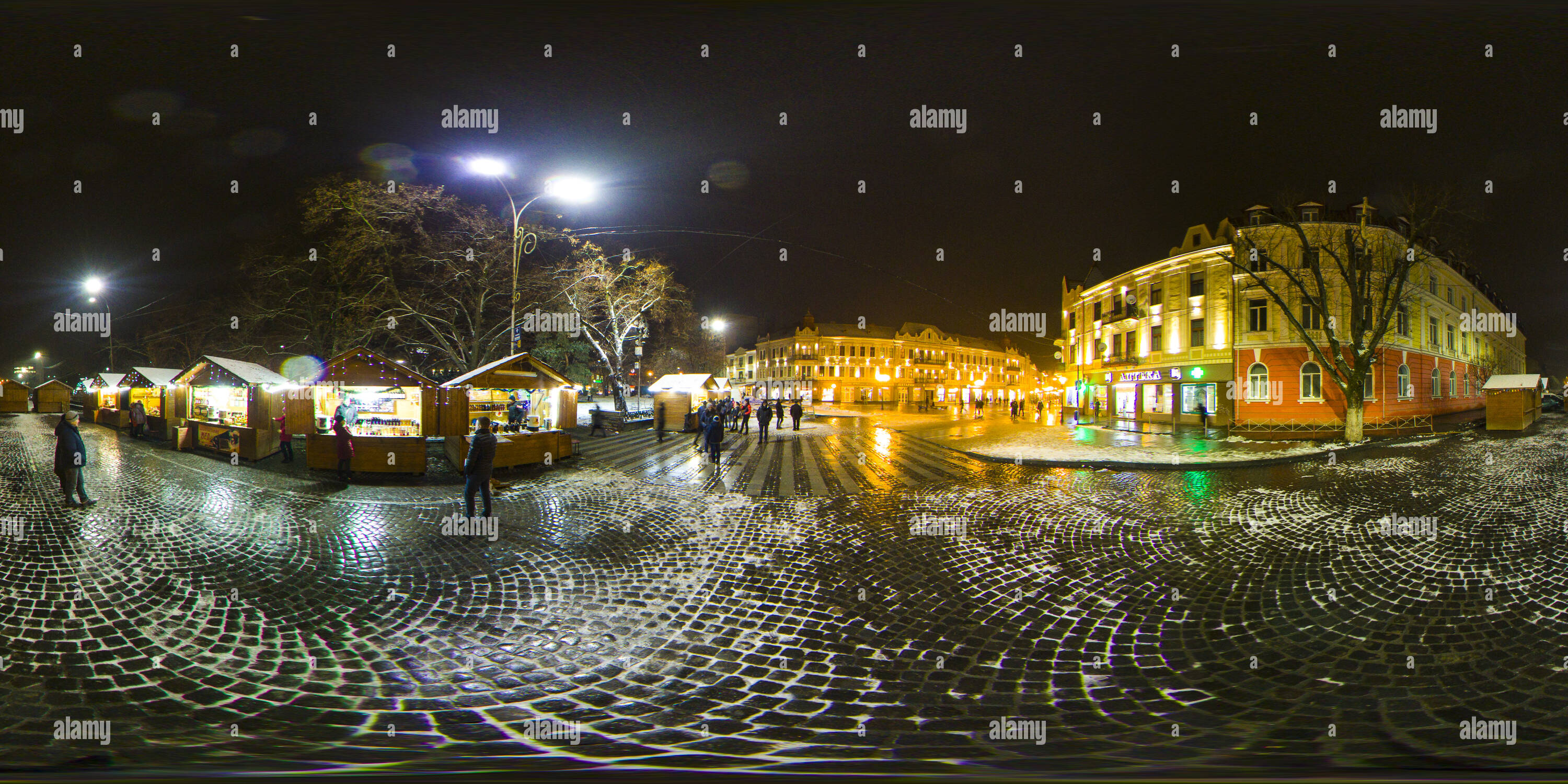 Uzhogorod Petefi sq Foire de Noël Photo Stock