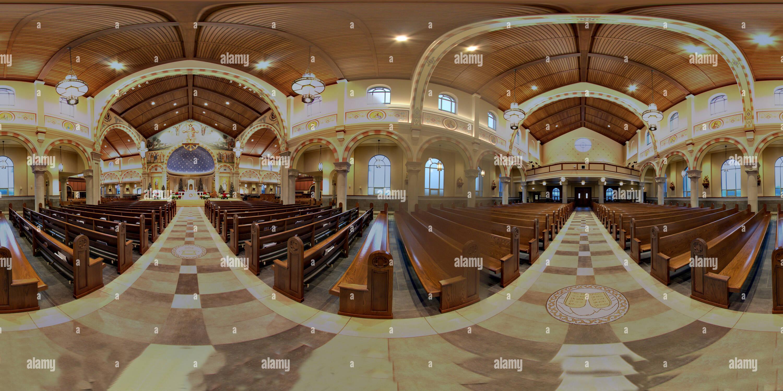 Église catholique saint Pie X à Noël Photo Stock