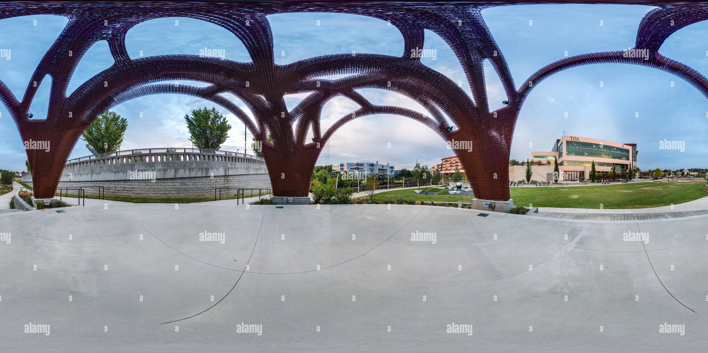 Sculpture 3D Printed Pavilion Photo Stock