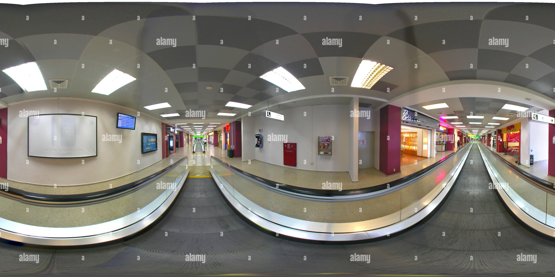 Corridor de l'aéroport Hall Photo Stock