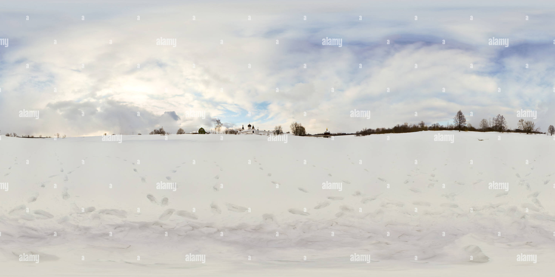 Vue sur le Monastère de l'Ascension de Orshin la rivière Orcha près de Tver Photo Stock
