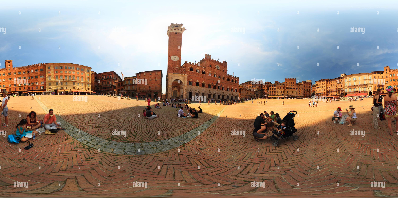 Piazza del Campo de Sienne, Photo Stock