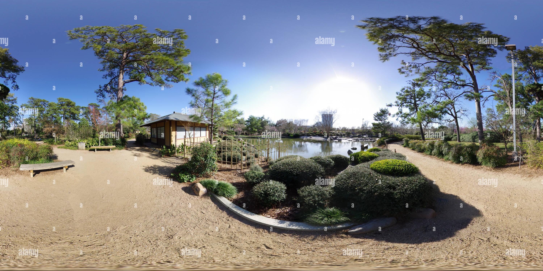 Le Jardin Japonais du parc Hermann Photo Stock